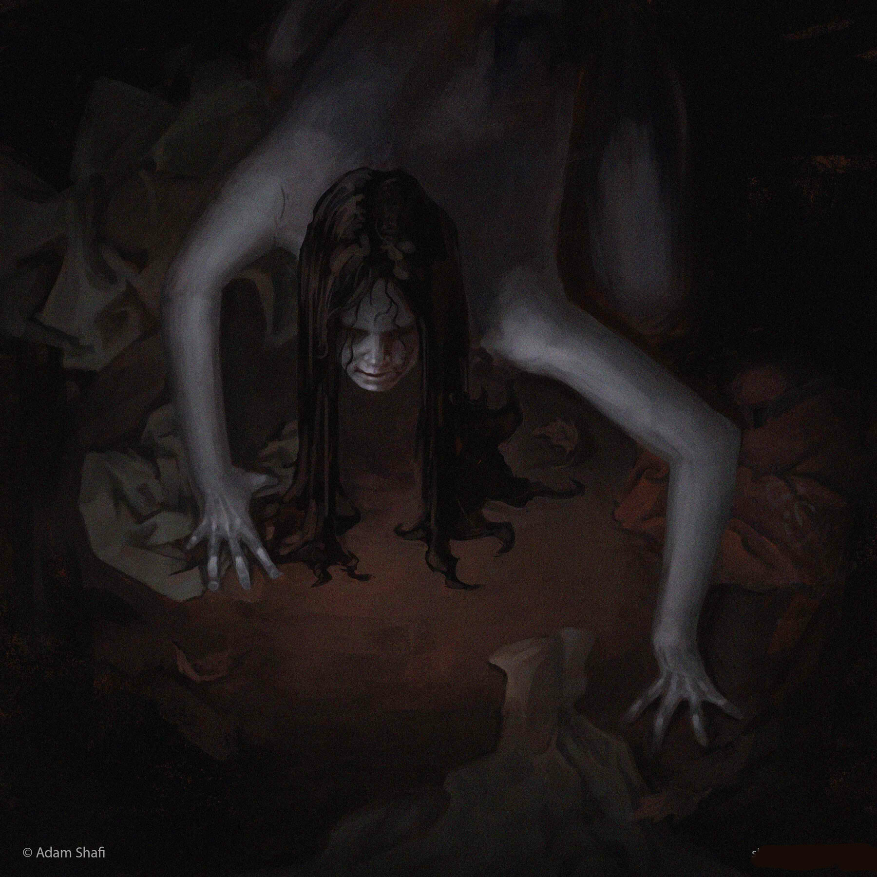 The Pontianak. The vengeful vampiric spirit of a woman who dies in childbirth. She sniffs out her prey by smelling their clothes, so be sure to not have your clothes drying outside overnight.