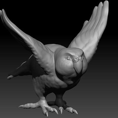 Kakapo 3D Sculpt
