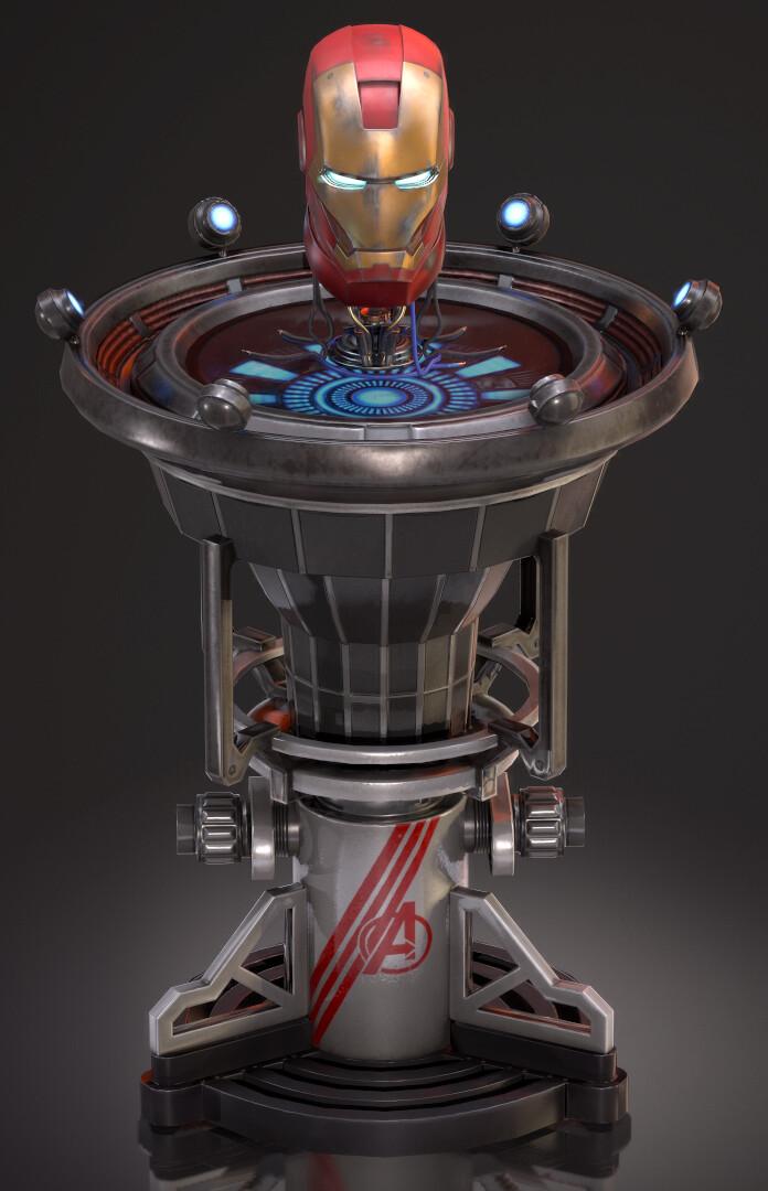 ArtStation - Iron Man Helmet and Stand, Devanshu Bishnoi
