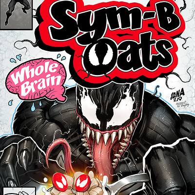 David nakayama symbiote venom cereal 1000v
