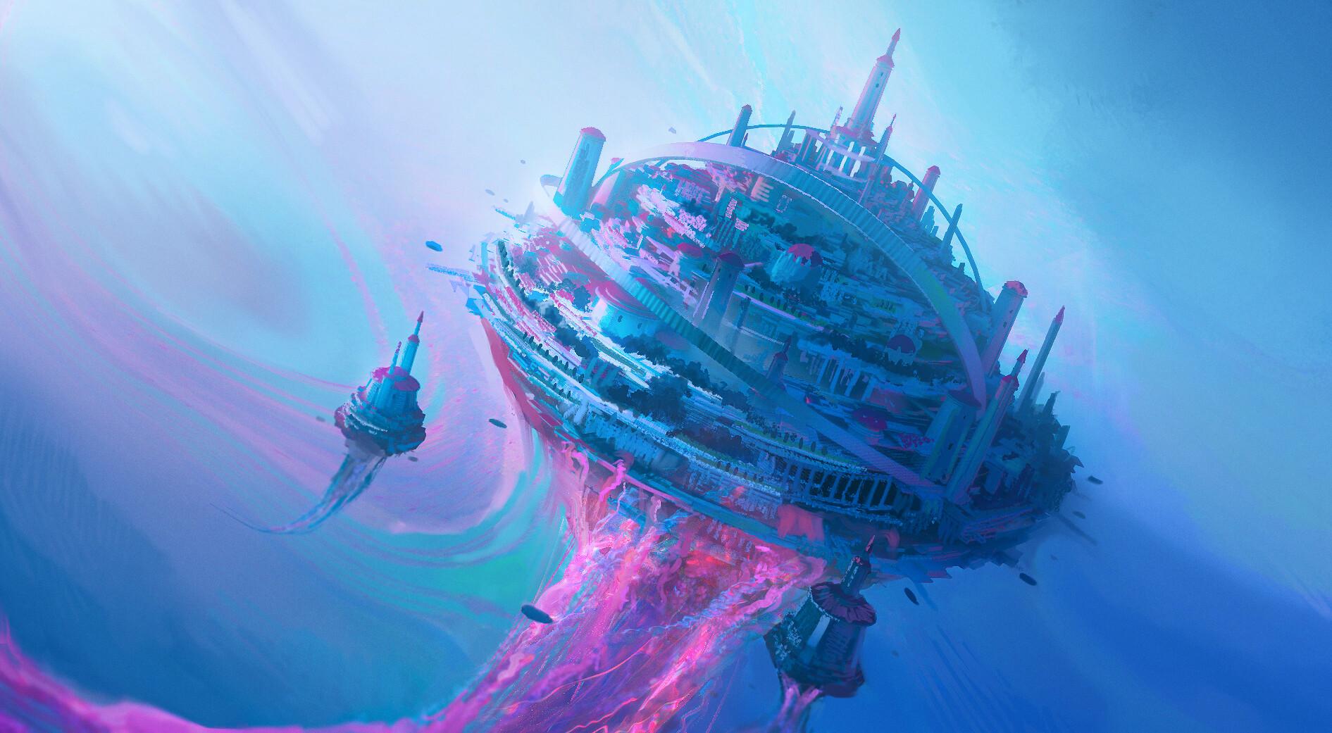 Leon tukker jellyfishscene color sketch