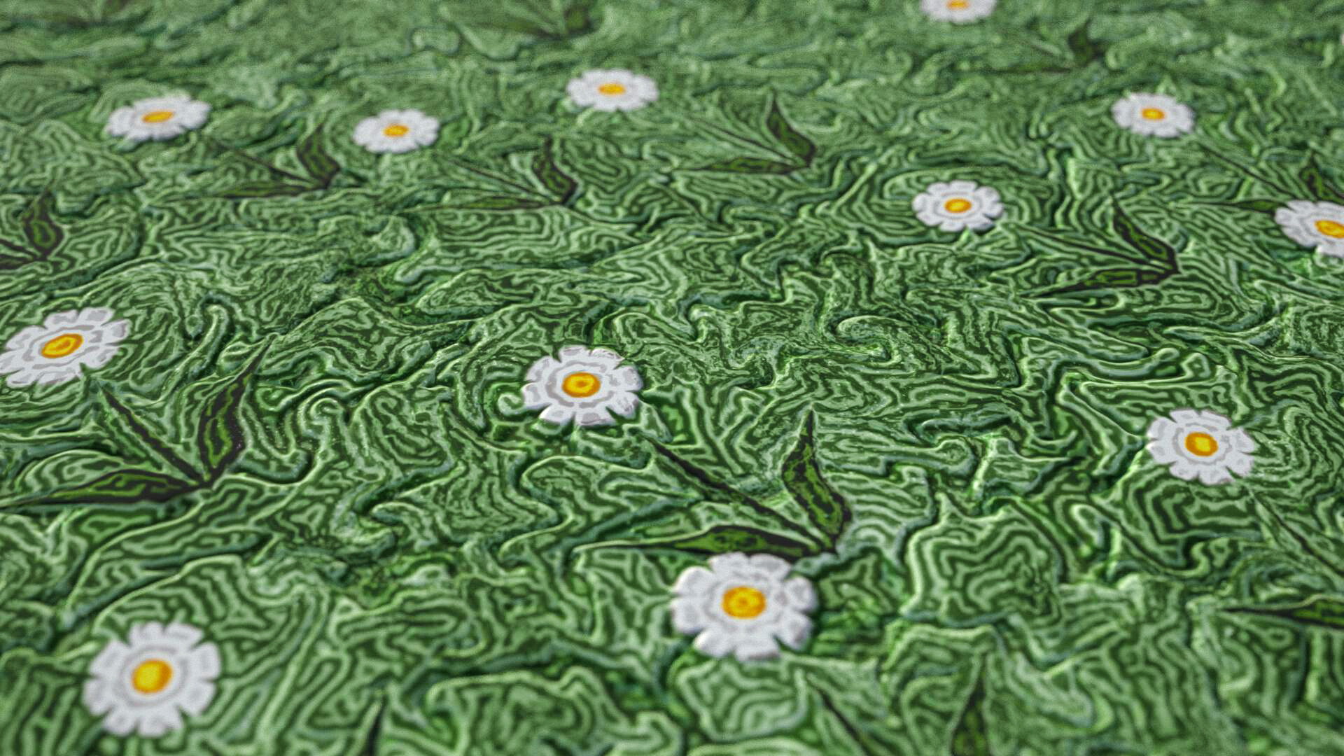 procedurally generated traditional marbling figures ( heart, tiger's eye, devil's eye, tulip, poppy, daisy, flowers 4-8 pedals, bird, oratots, butterflies )