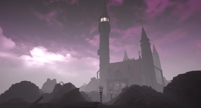 The castle as dusk