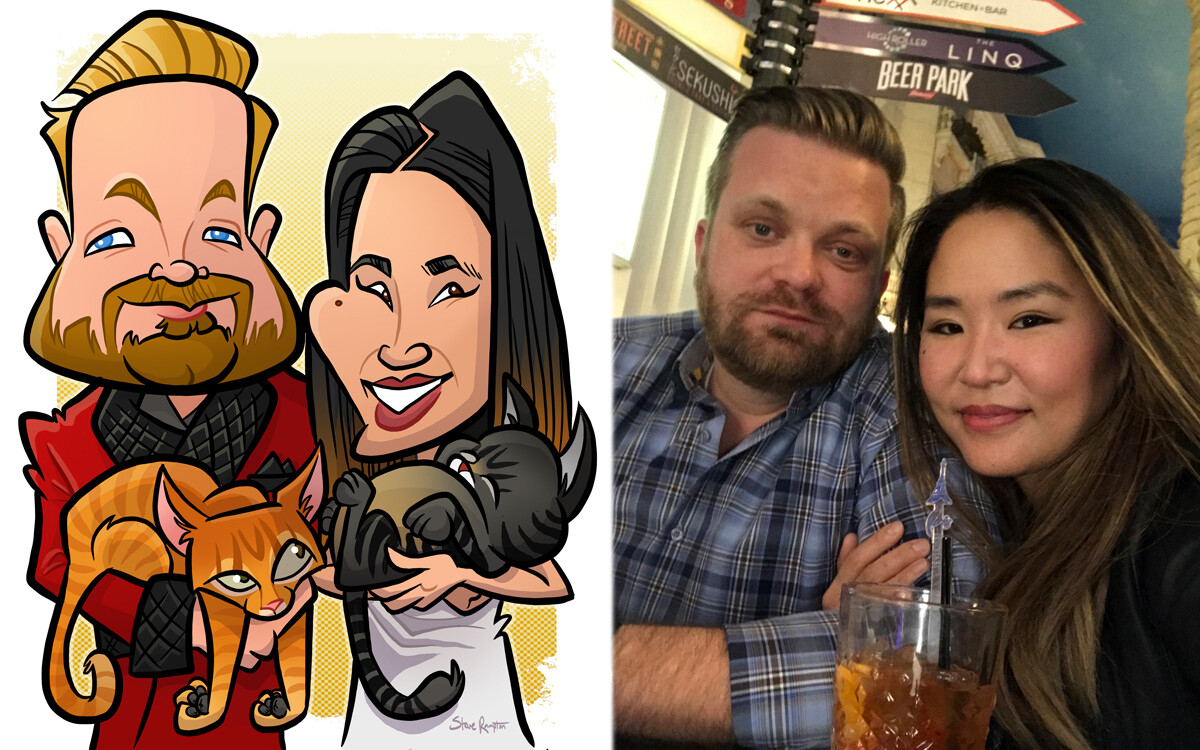Engagement caricature - 2018