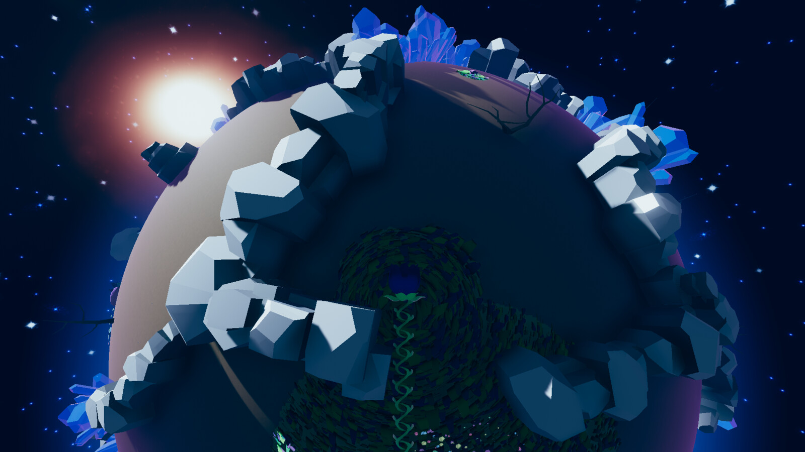 The maze in the final level