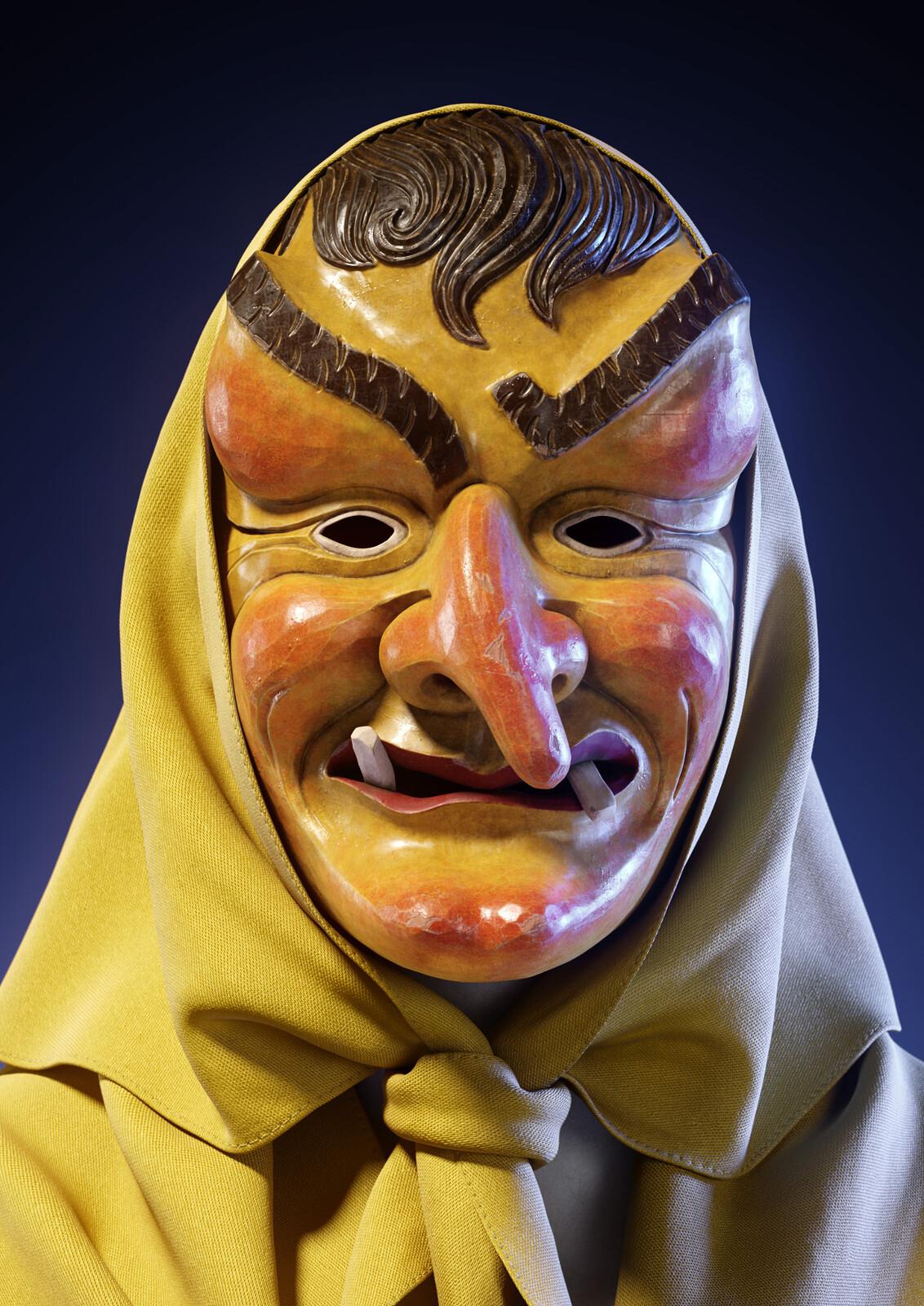 Swabian-Alemannic Fastnacht Mask (Dalba Hexa)