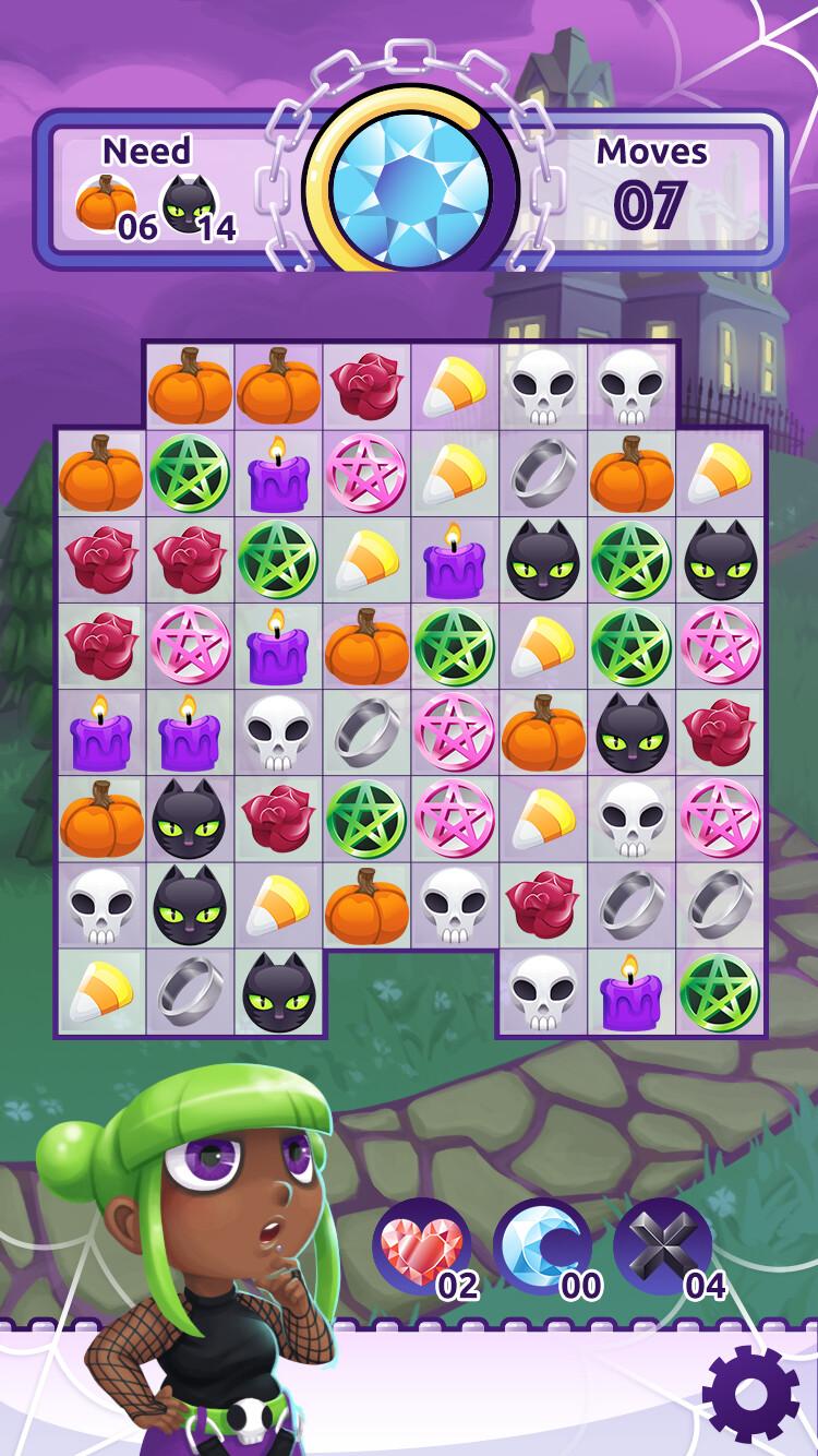Match-3 gameplay screen