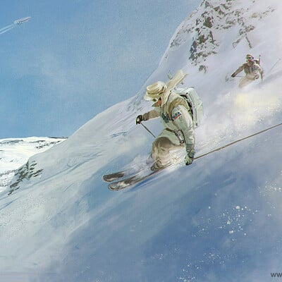Skiing the Bantha Pass