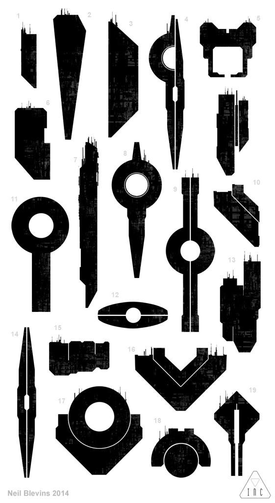 Neil blevins inc alien mothership silhouette sketch