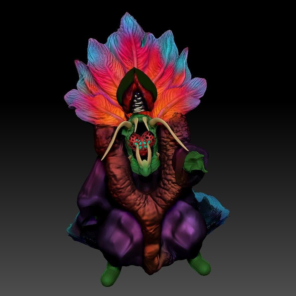 Model of a creation god/  villain