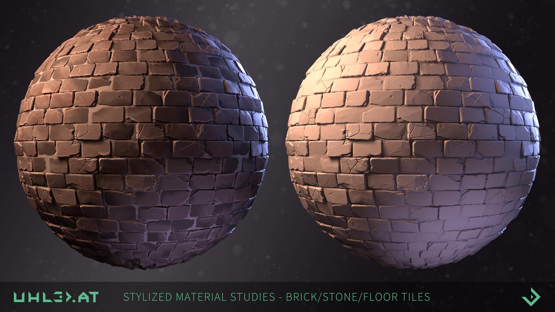 Dominik uhl stylized brick stone studies 01