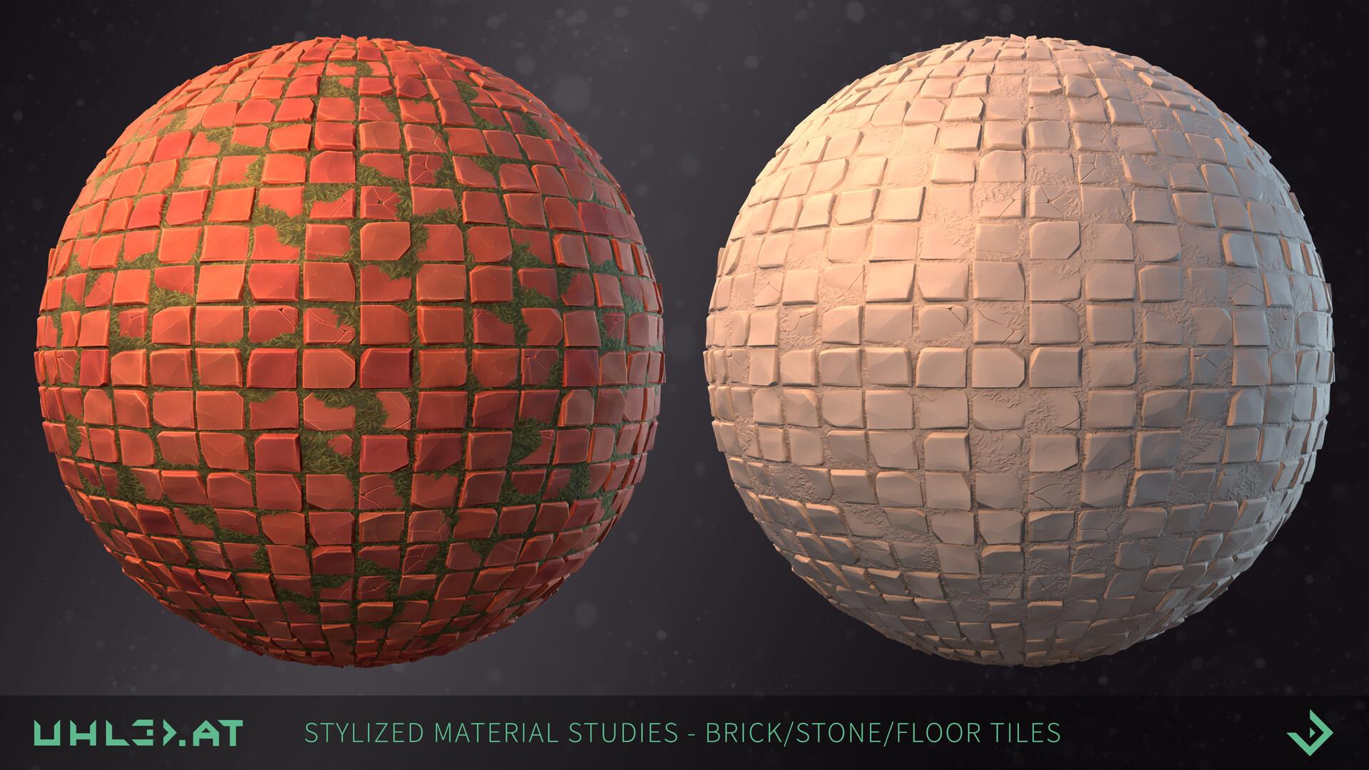 Dominik uhl stylized brick stone studies 03
