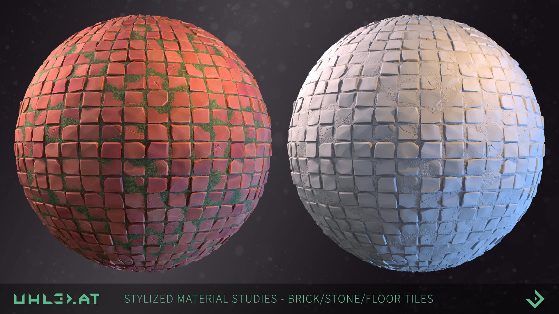 Dominik uhl stylized brick stone studies 04
