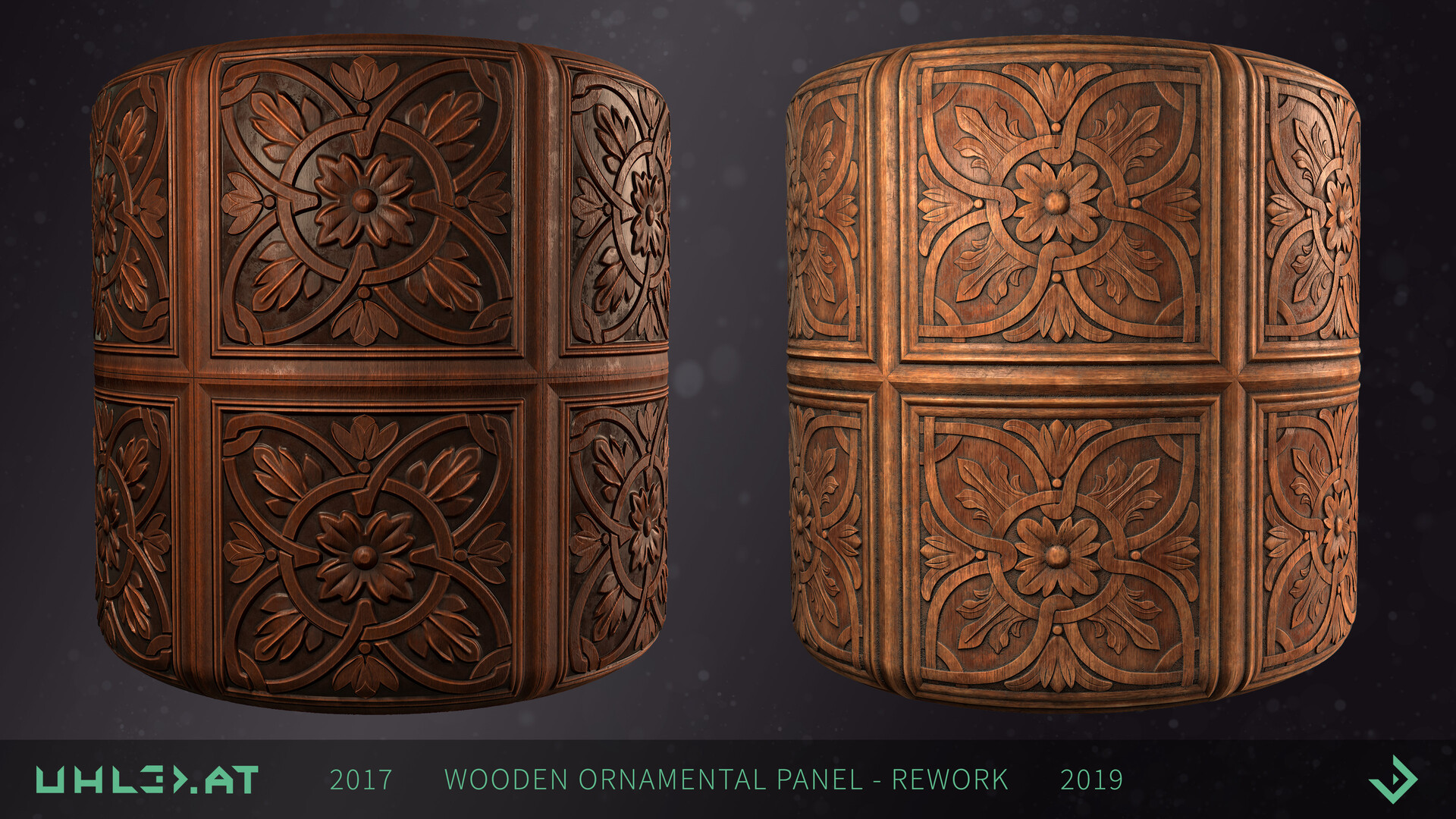 Dominik uhl wood panel ornament rework 08