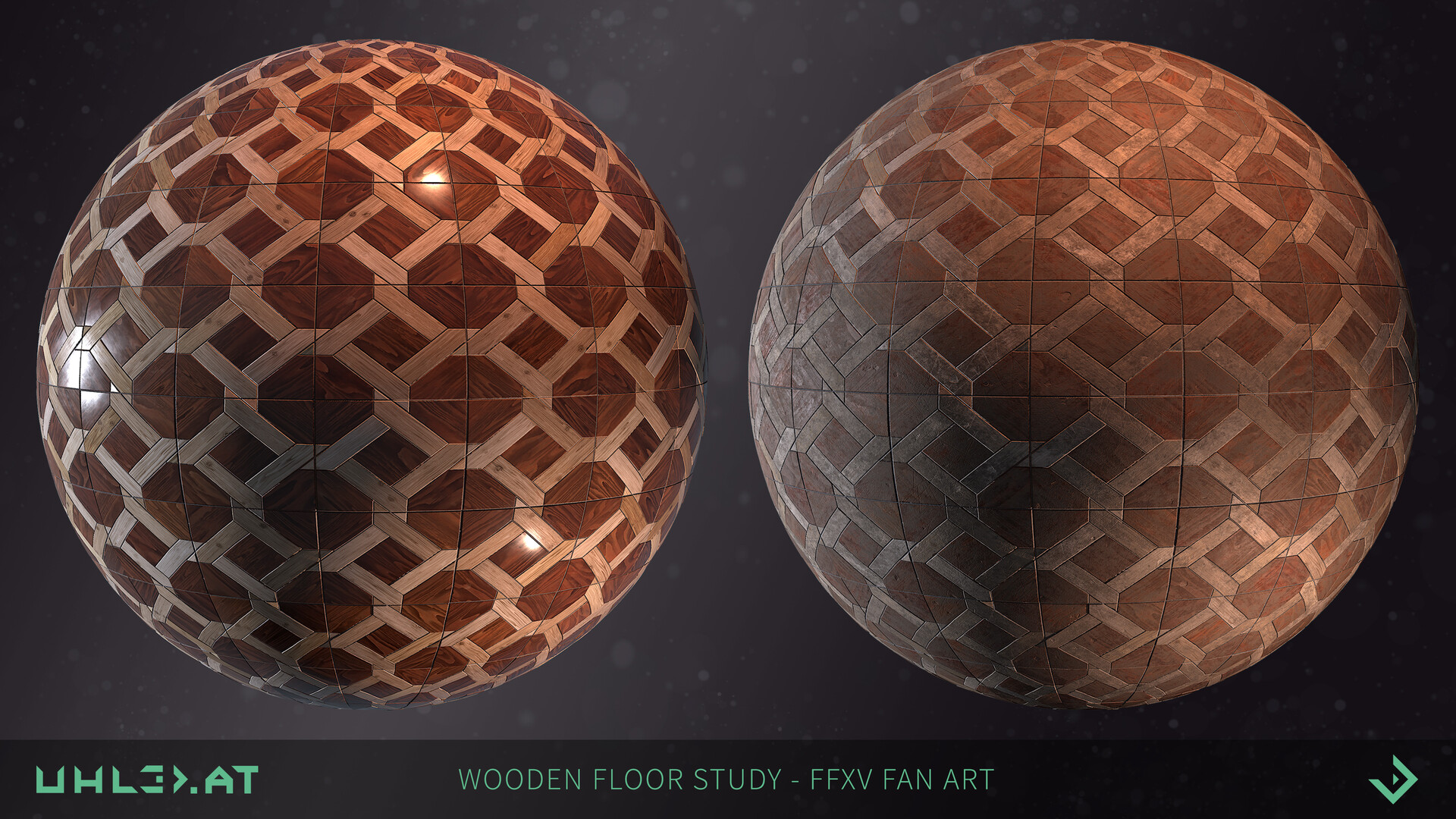 Dominik uhl wooden floor pattern ffxv 02