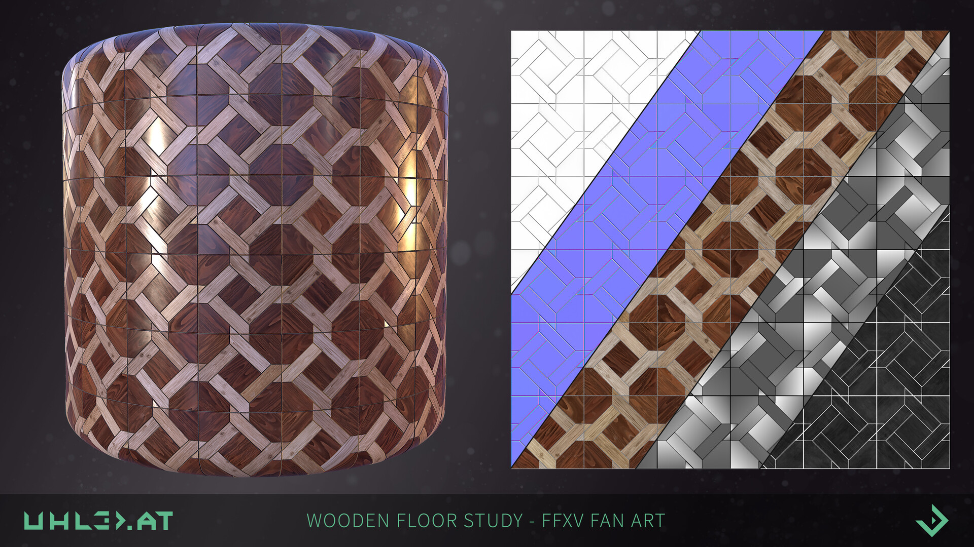 Dominik uhl wooden floor pattern ffxv 05