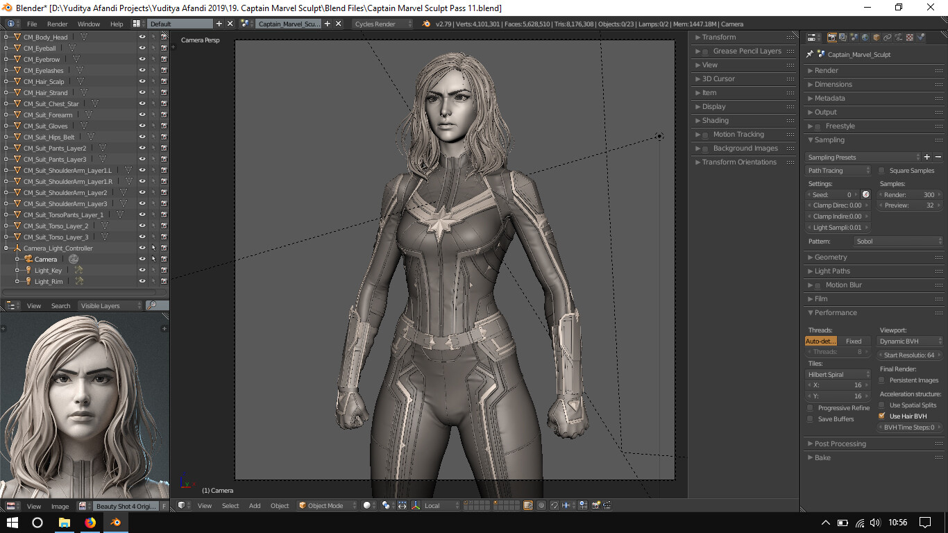 Yuditya afandi captain marvel blender screenshot