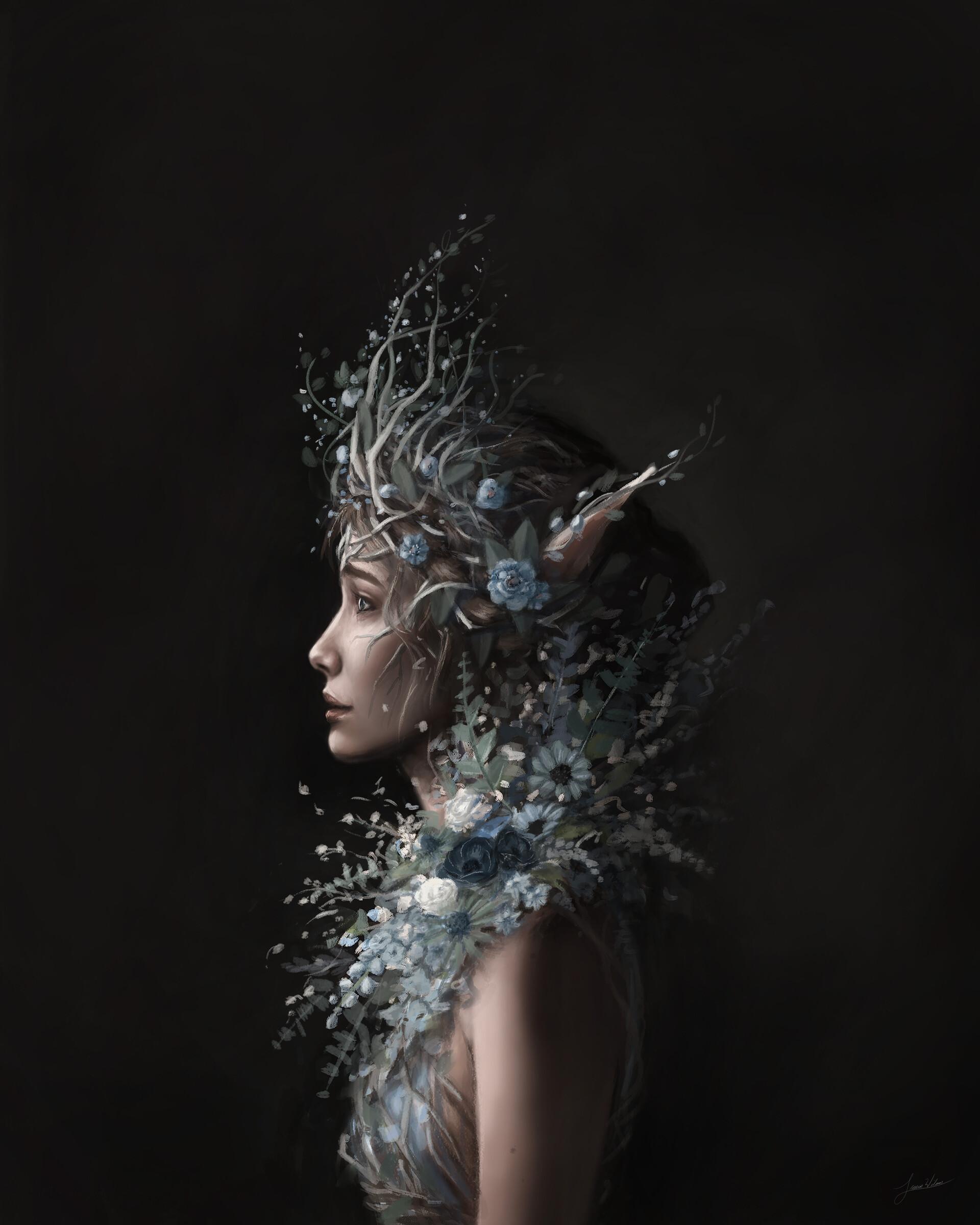 Lauren wilson blue flowers