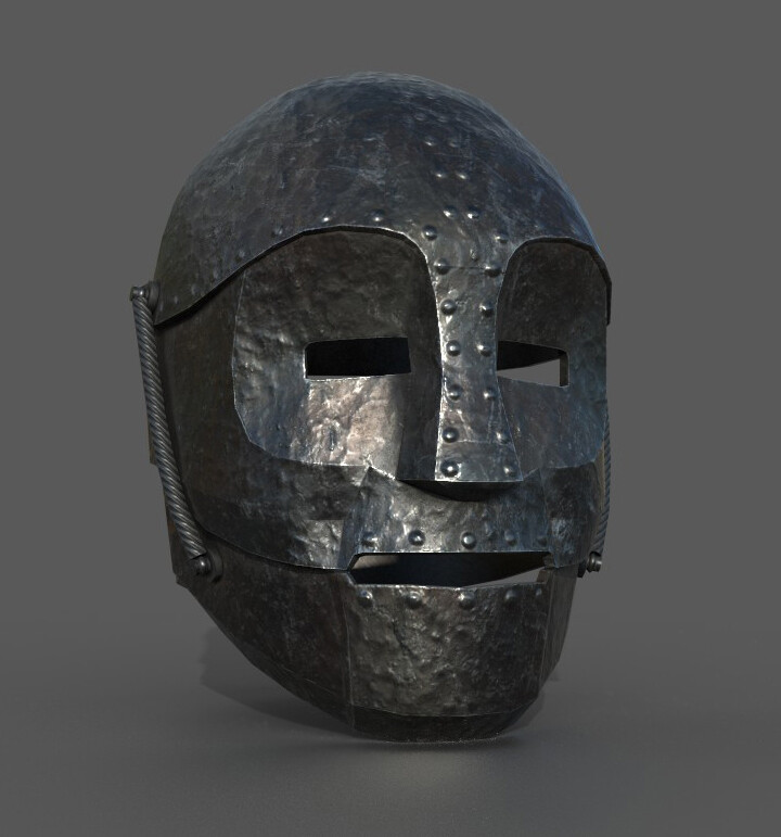 Iron mask modeling (Spoiler : in this experience, YOU are the iron mask guy, seeing himself into a mirro. Creepy moment)