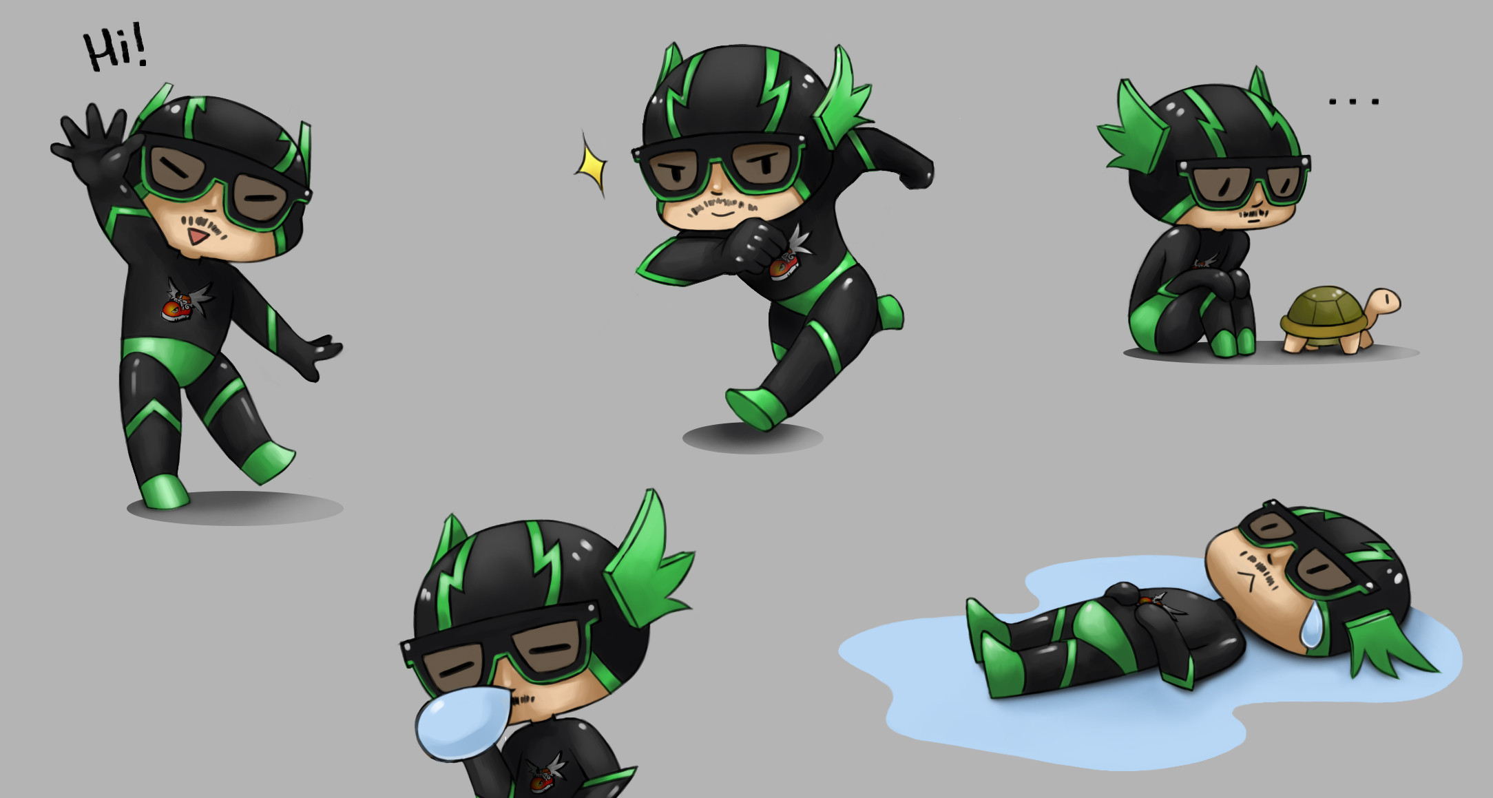 Admin Flash Character Design