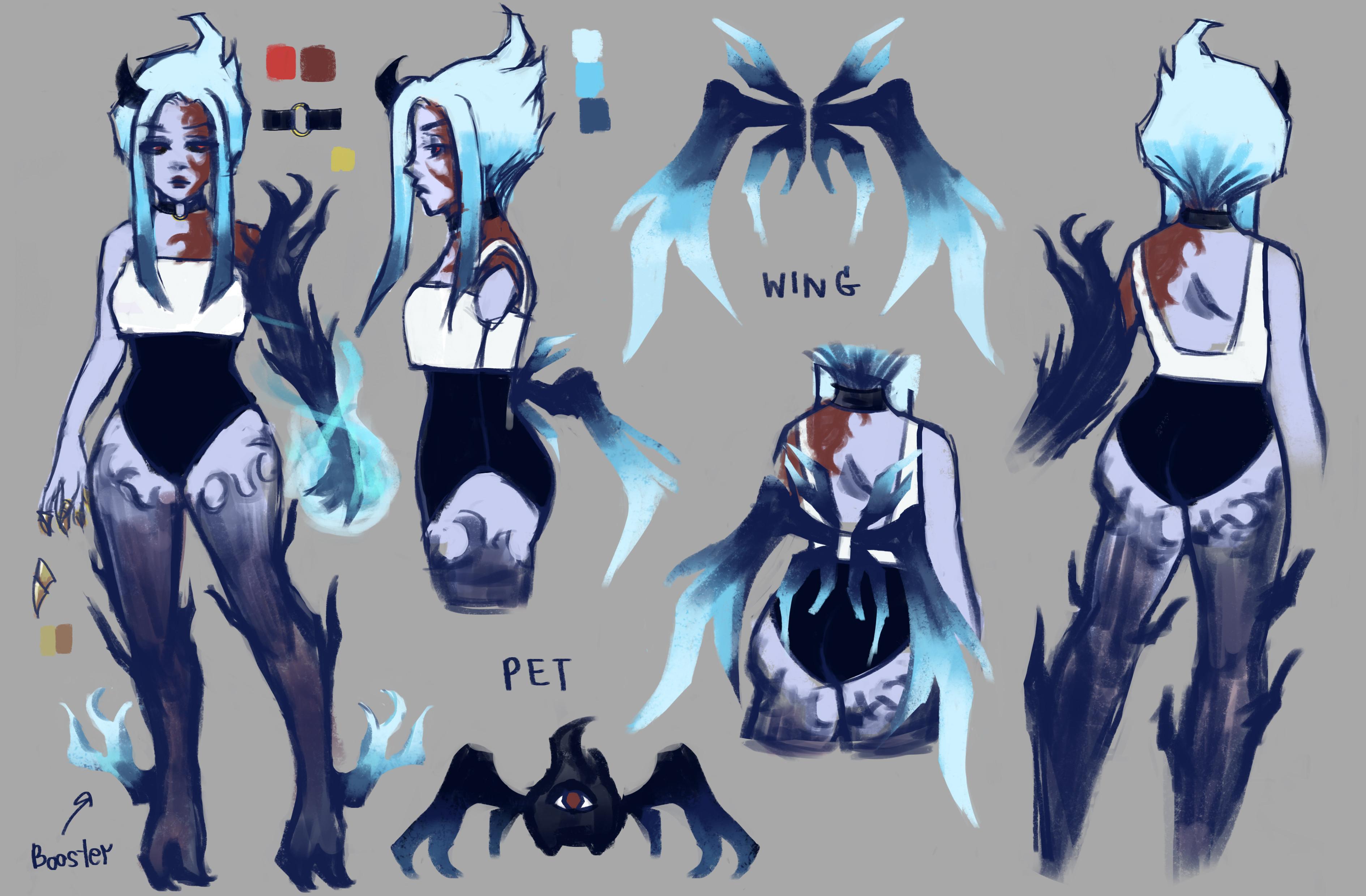 TalesRunner Character Concept - Flaw skin variation 1