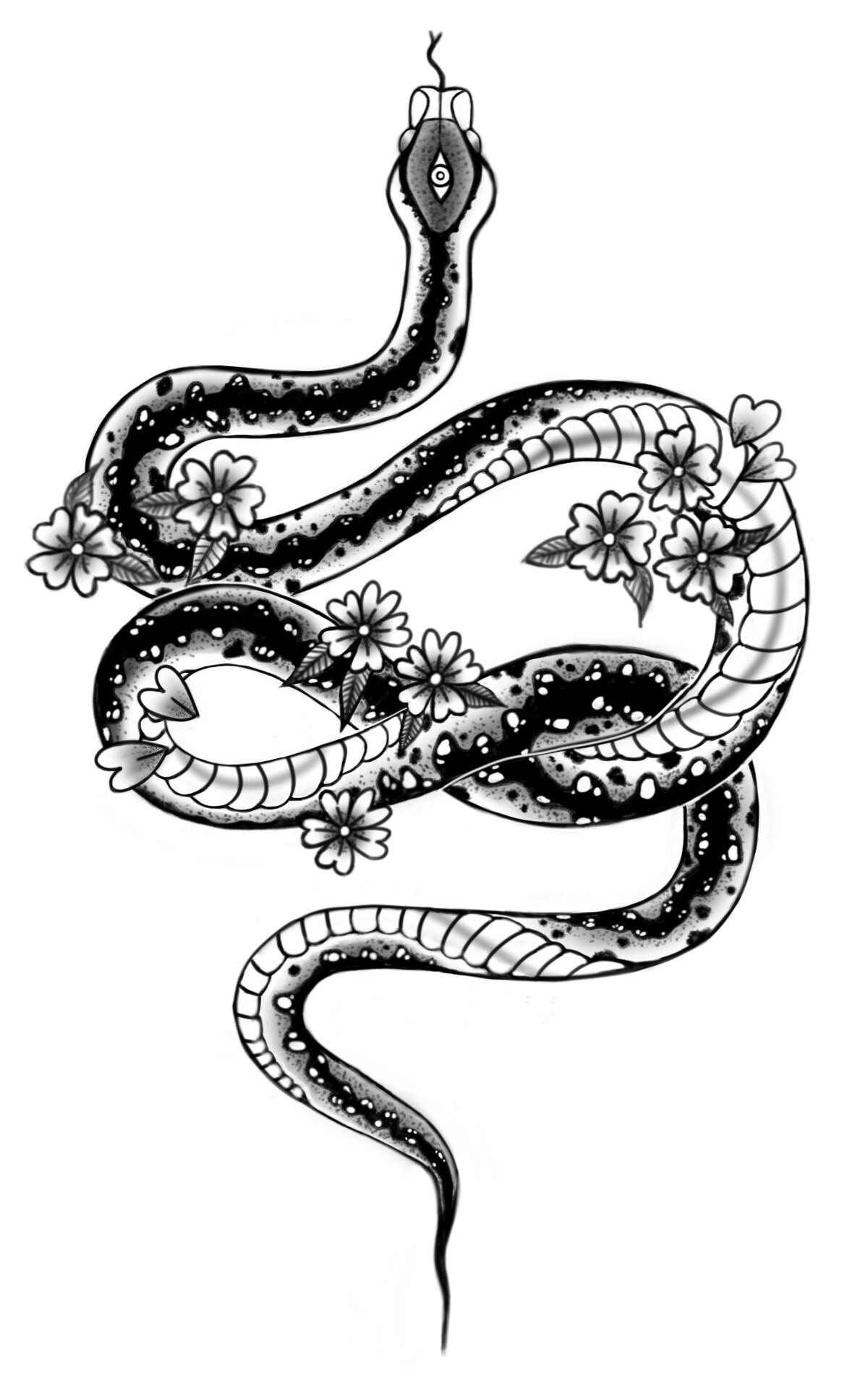 20e0ccde13ff4 ArtStation - Snake Tattoo Designs, Ellen Beuting