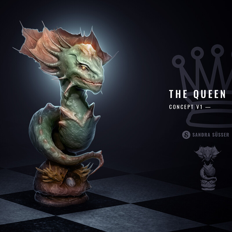 Alien Chess Set – The Queen