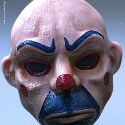 Surajit sen joker bozo mask sculpt by surajitsen march2019