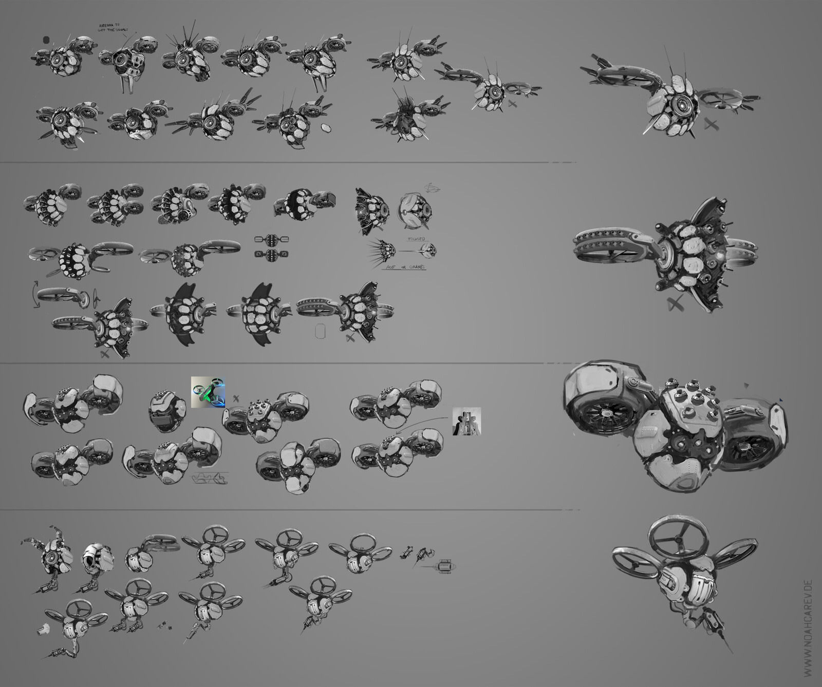Concepts for each drone