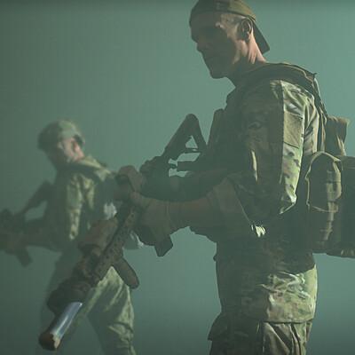 Ricardo guimaraes soldiers green fog