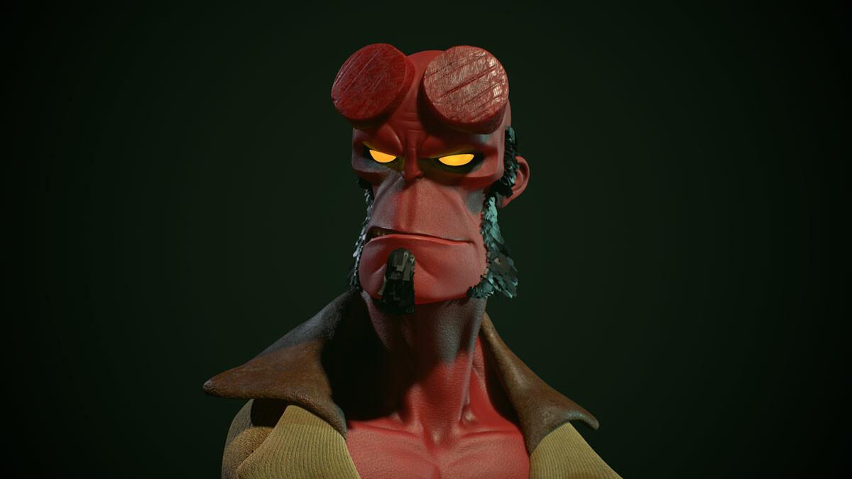 Hellboy fanart simple