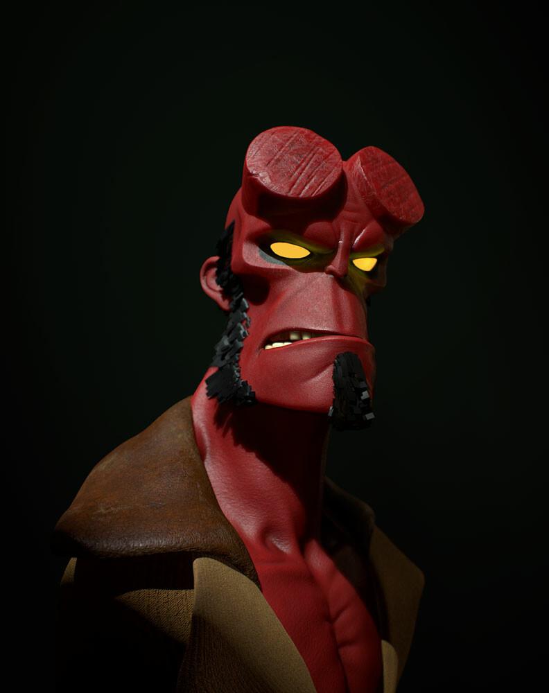Hellboy fanart render 2