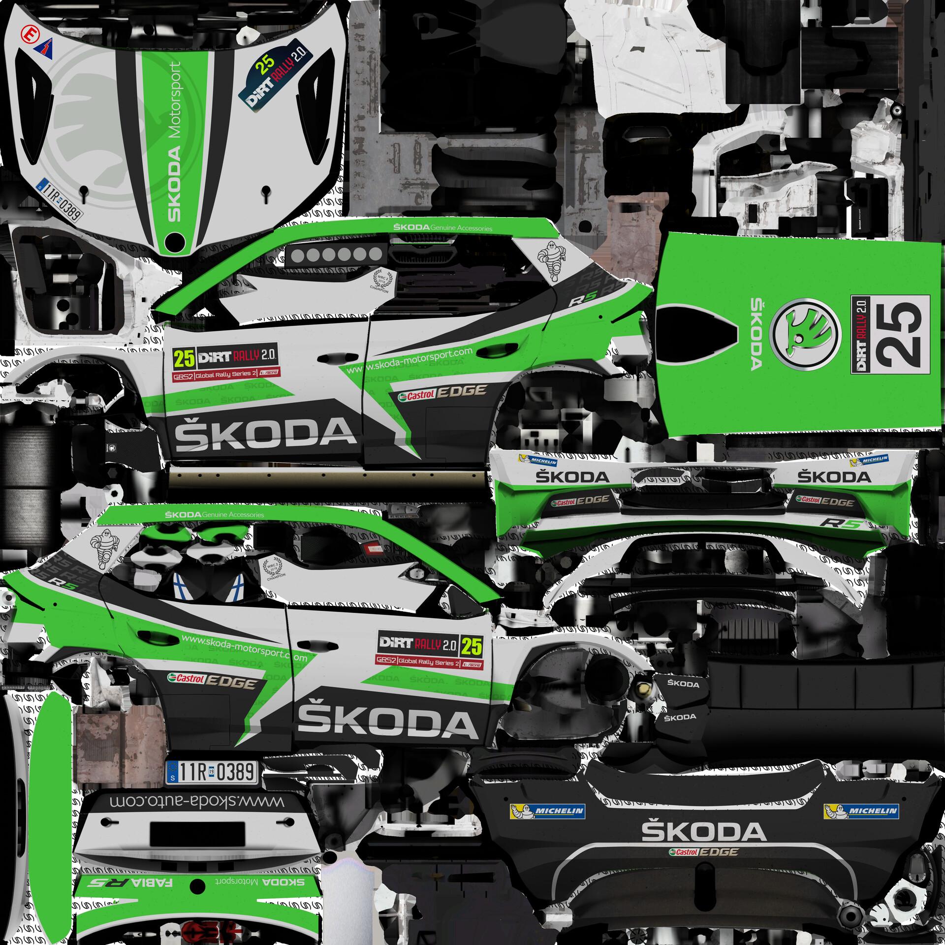 Ugo Degani Skoda Fabia R5 Skoda Motorsport 2019