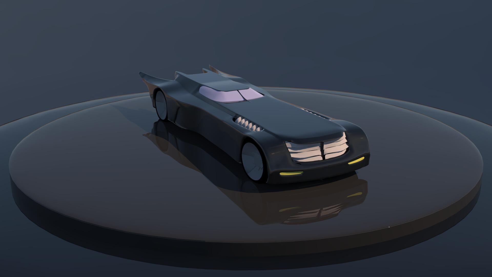 Artstation Batman The Animated Series Batmobile 3d Model