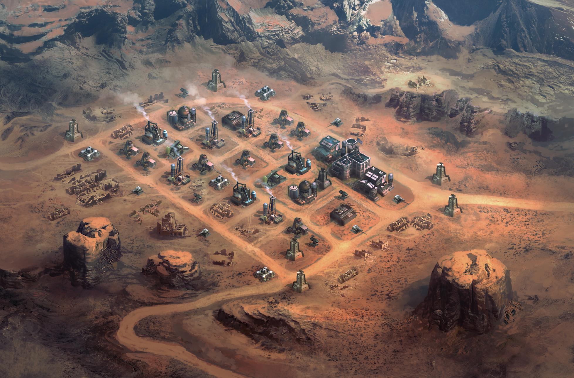 Desert ruin map