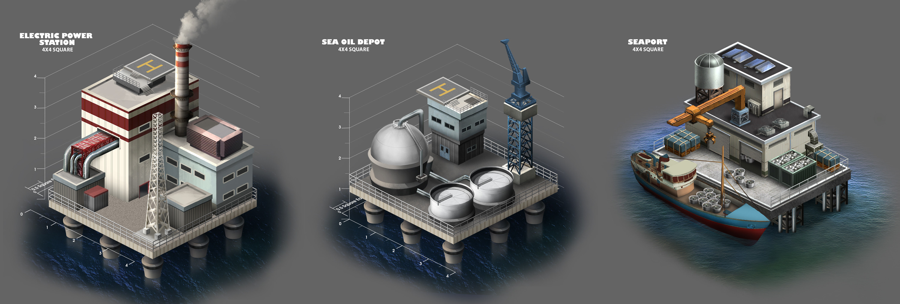 Sea base structures