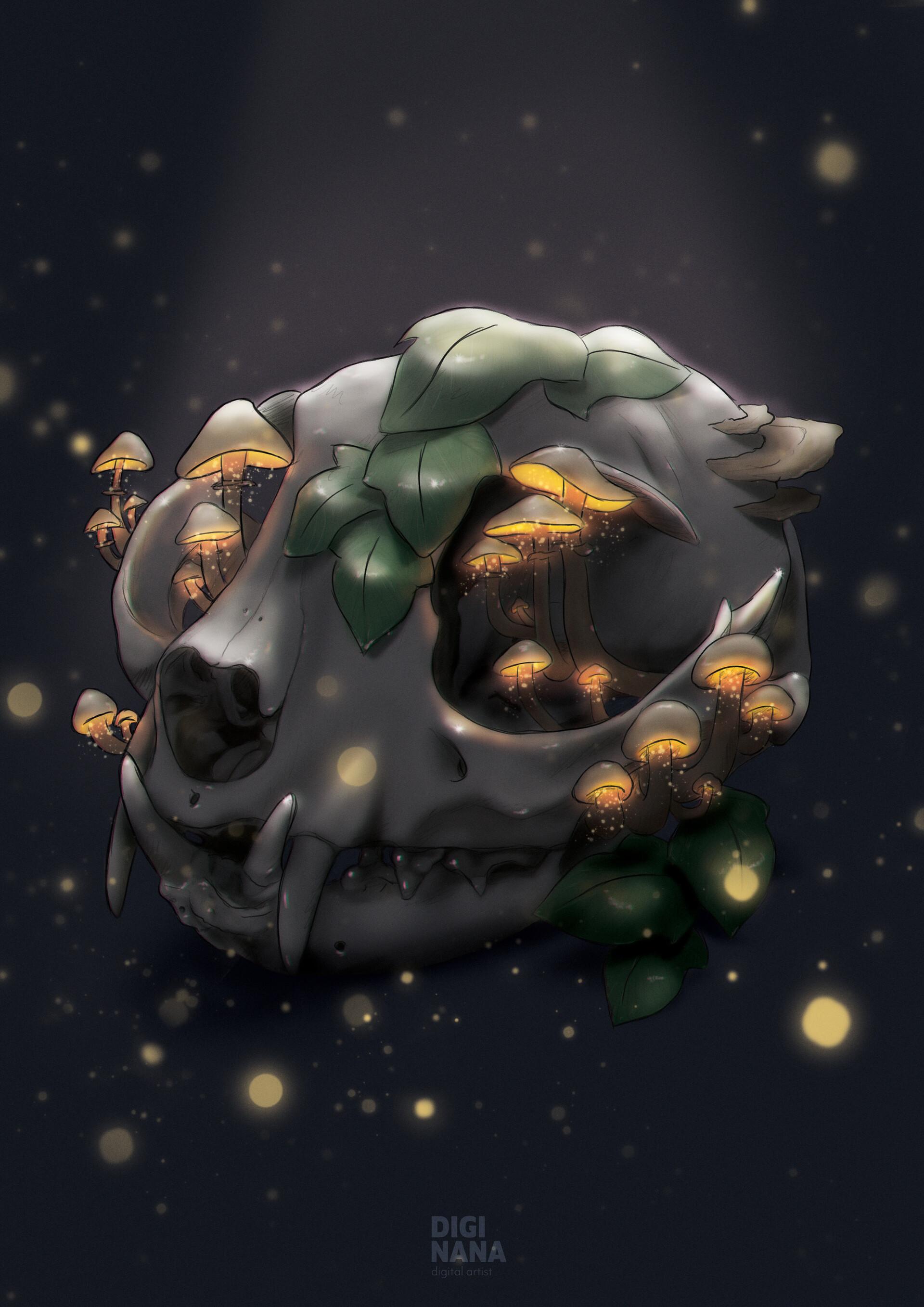 Digi nana cat skull