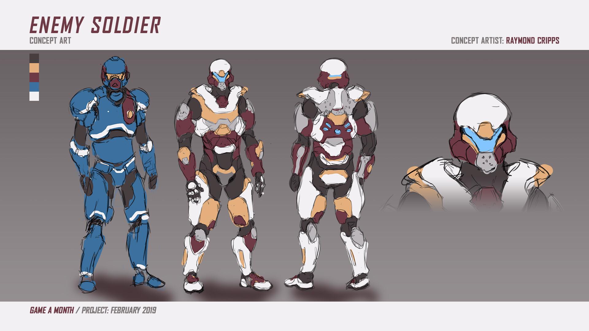 Enemy Soldier concept art