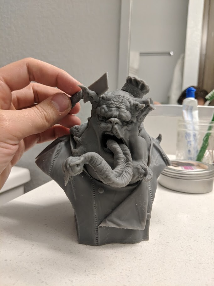Initial 3D print, printed on a form 2,
