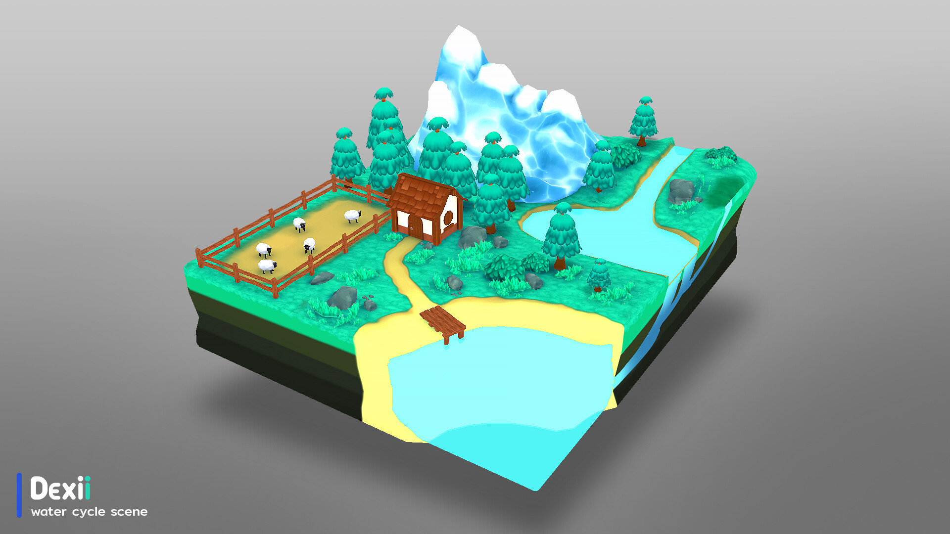 Artstation Dexii Water Cycle Game For Education Mobile Application Found Station