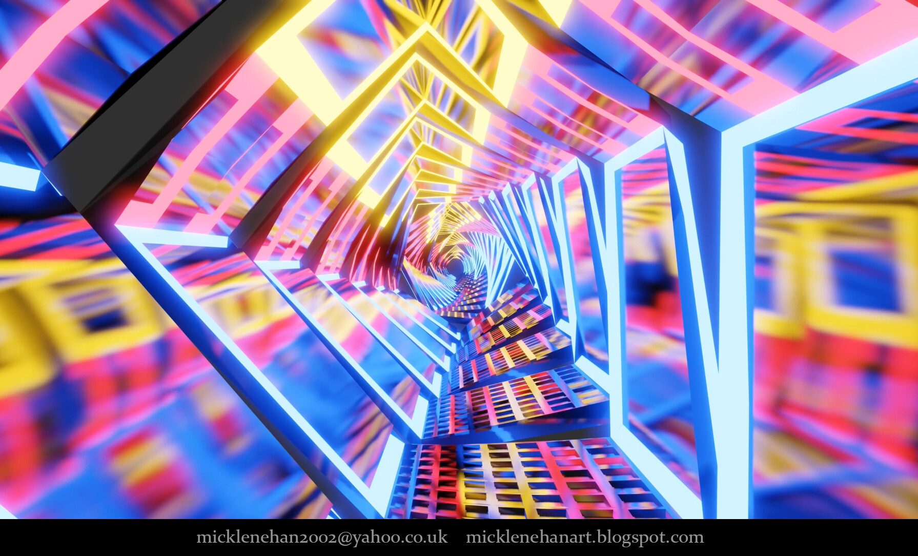 ArtStation - Blender 2 8 EEVEE Techno Tunnel v2 Animation 4K