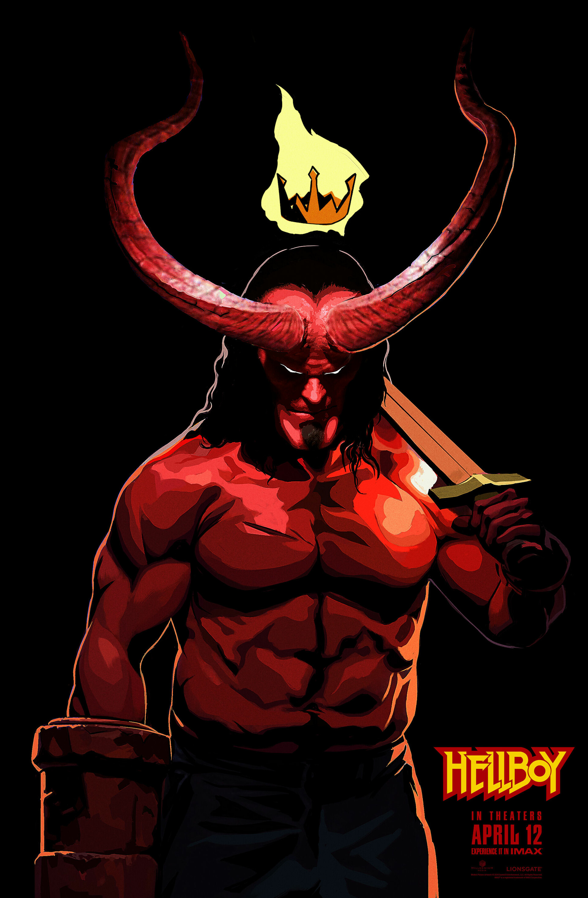 Artstation Hellboy 2019 Film 8 X Official Movie Posters Artwork Epicheroes Exclusive Epic Heroes