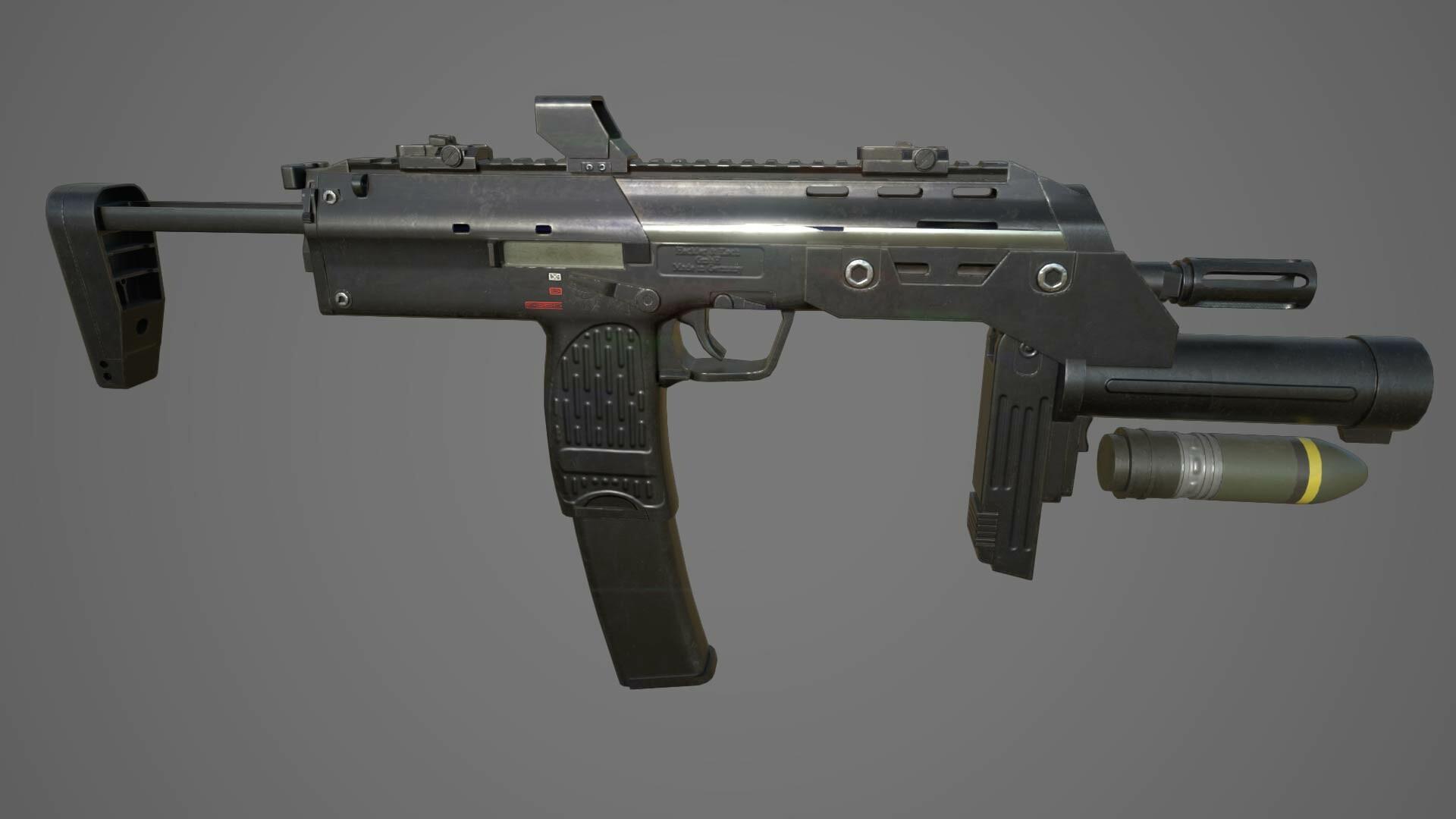 Artstation Heckler And Koch Mp7 With Grenade Launcher