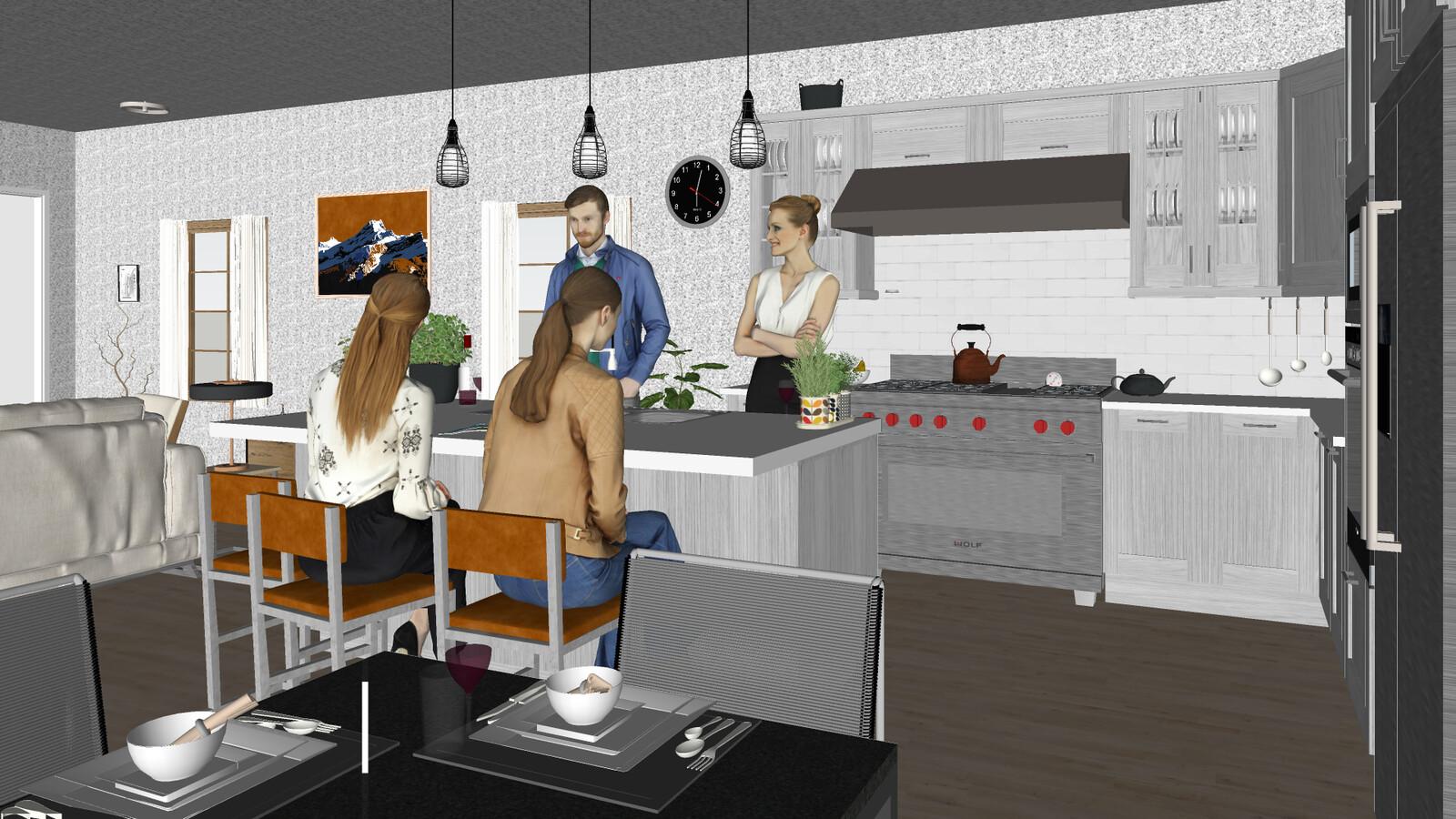 SketchUp 2019 Carson St Project 01B-Scene 3 SU