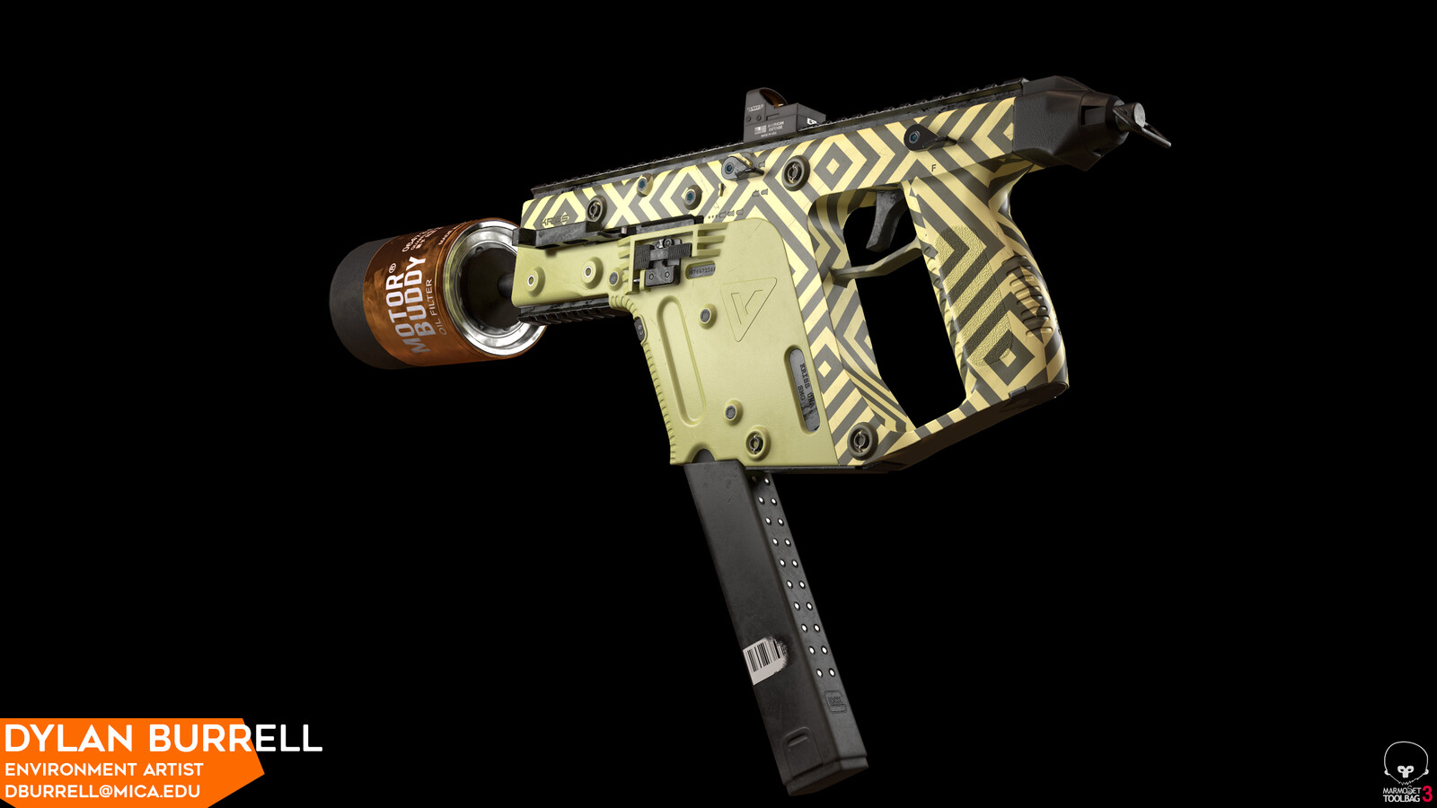 """Kriss Vector in """"Olive Oil"""" and """"Clown"""""""