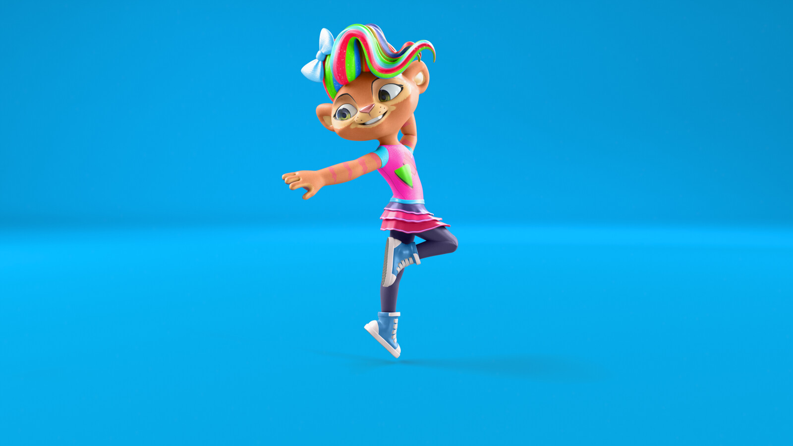 This was an advertising image to showcase the character Twirl doing a ballet dance pose.