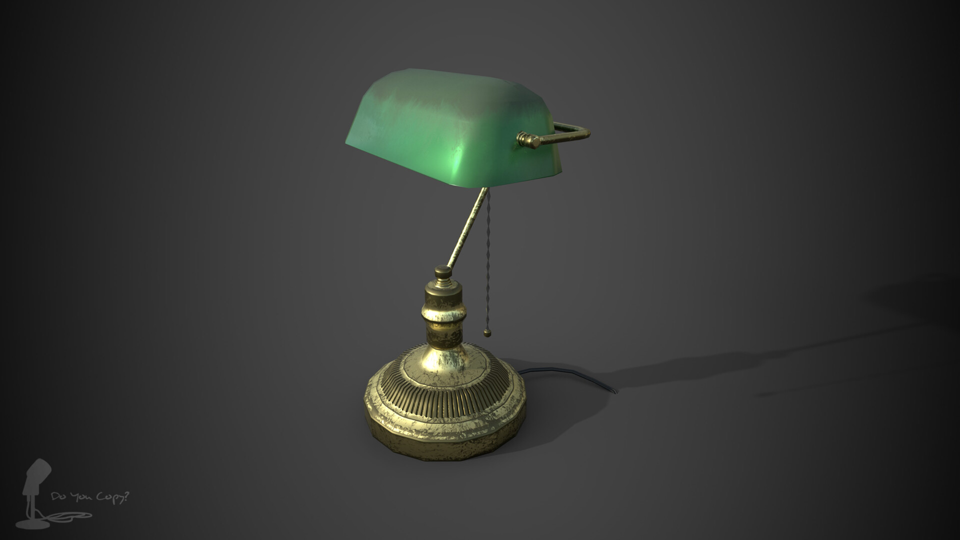 Desk Lamp - Rendered in Iray