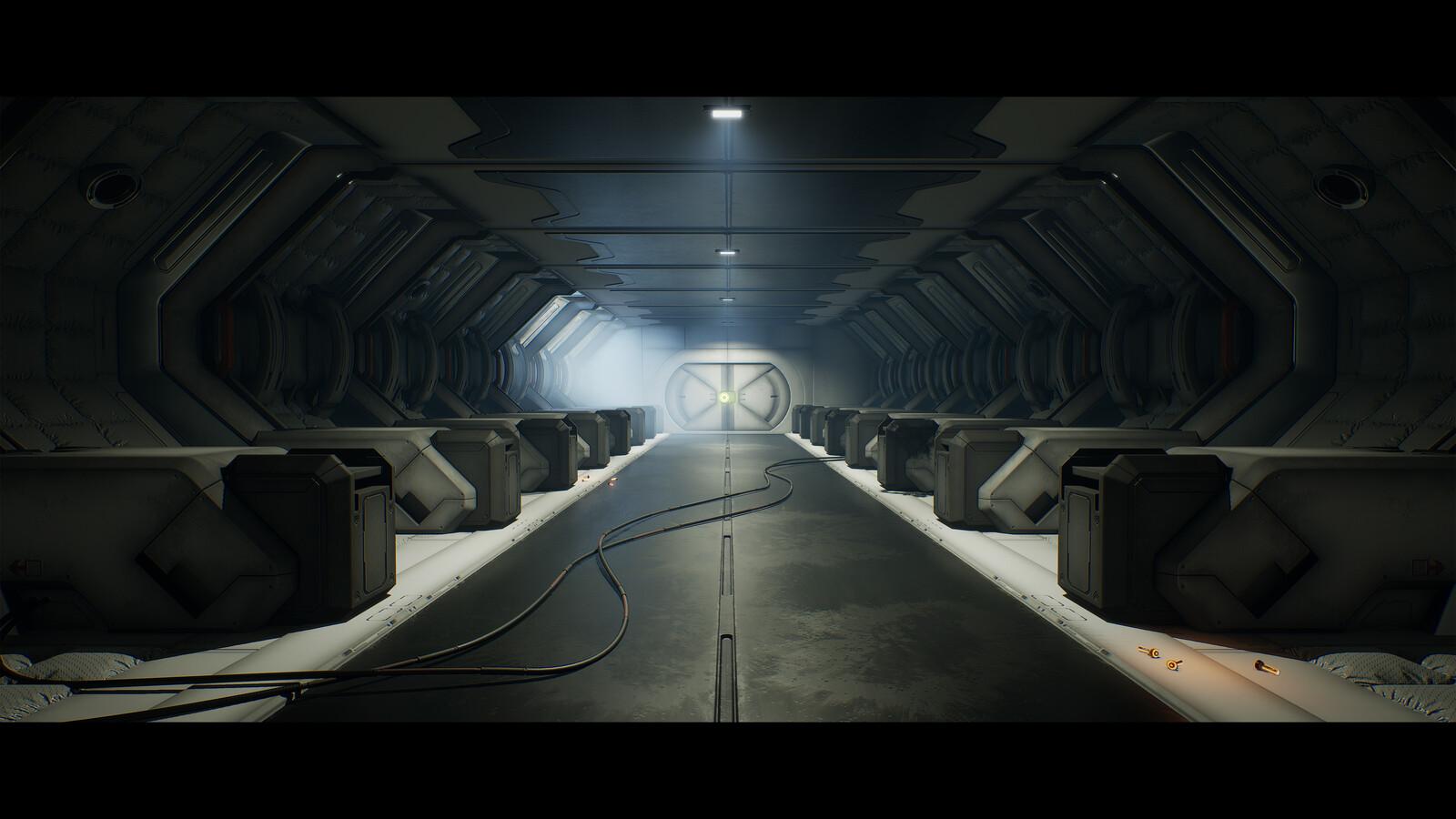 Mass Effect Inspired Sci-Fi Corridor