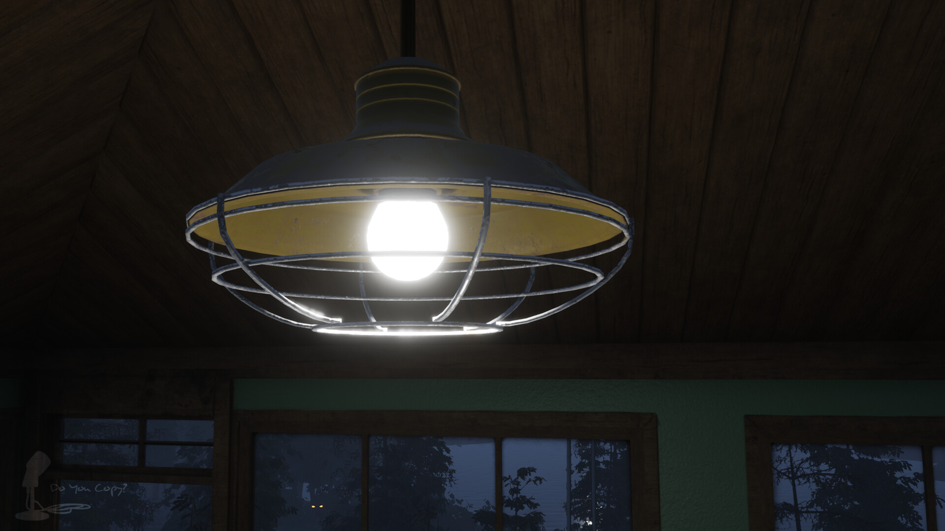 Hanging lamp - Rendered In Engine