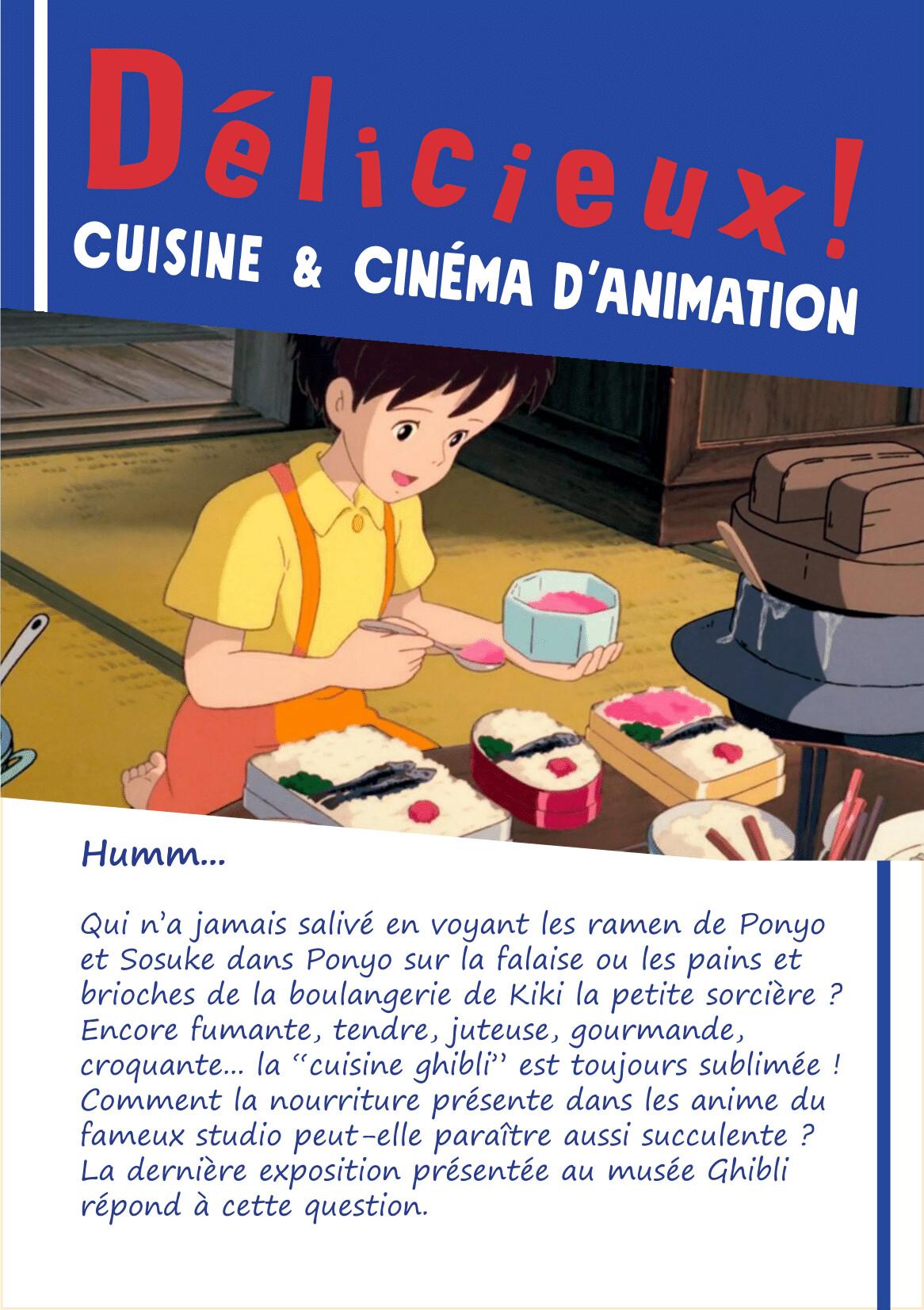 Ghibli D Exhibition : Nicolas baste poster and flyer for a ghibli studio exhibition